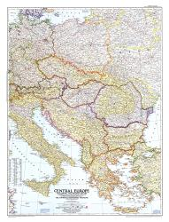 1951 Central Europe Map by National Geographic Maps