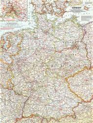 1959 Germany Map by National Geographic Maps