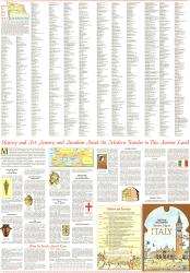 1970 Travelers Map of Italy Theme by National Geographic Maps