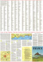 1971 Travelers Map of France Theme by National Geographic Maps