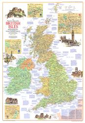 1974 Travelers Map of the British Isles by National Geographic Maps