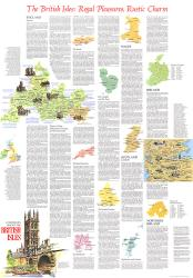 1974 Travelers Map of the British Isles Theme by National Geographic Maps