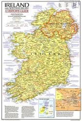 1981 Ireland and Northern Ireland Visitors Guide Map by National Geographic Maps