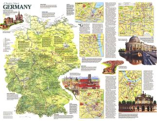1991 Travelers Map of Germany by National Geographic Maps