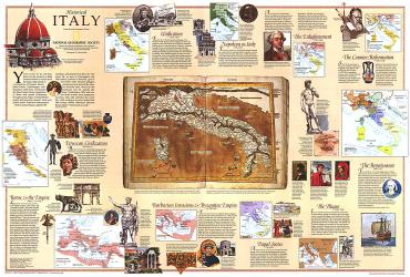 1995 Historical Italy Theme by National Geographic Maps