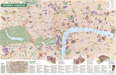2000 The Heart of Tourist London by National Geographic Maps