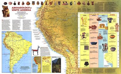 1982 Archaeology of South America Map by National Geographic Maps