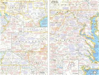 1961 Battlefields of the Civil War Theme by National Geographic Maps