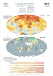 2007 Changing Climate Map by National Geographic Maps