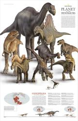 2007 Planet of the Dinosaurs Gondwana by National Geographic Maps