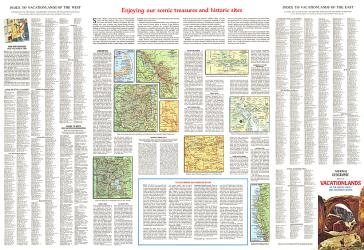 1966 Enjoying Our Scenic Treasures and Historical Sites by National Geographic Maps