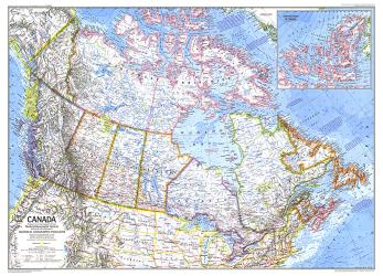 1972 Canada by National Geographic Maps