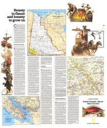 1978 British Columbia, Alberta and the Yukon Territory Theme by National Geographic Maps
