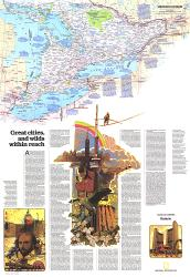 1978 Ontario Great Cities Wilds Within Reach Map by National Geographic Maps