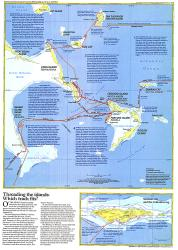 1986 Threading the Islands Map by National Geographic Maps