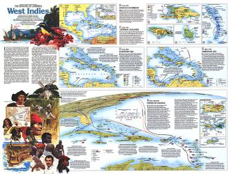 1987 Making of America, West Indies Theme by National Geographic Maps