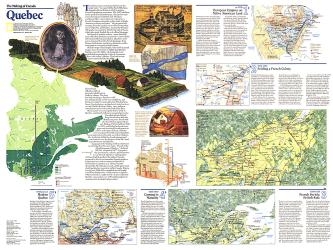1991 The Making of Canada, Quebec Theme by National Geographic Maps