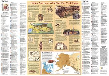 1991 Indian America Map by National Geographic Maps