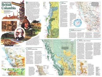1992 Making of Canada, British Columbia Theme by National Geographic Maps
