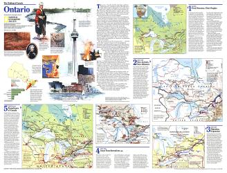 1996 Making of Canada, Ontario Theme by National Geographic Maps