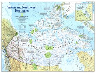 1997 Making of Canada, Yukon and Northwest Territories Map by National Geographic Maps