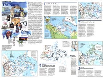 1997 Making of Canada, the North Map by National Geographic Maps