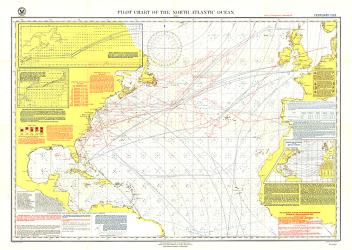 1903 Pilot Chart of the North Atlantic Ocean Map by National Geographic Maps