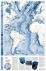 2001 World Ocean Floor, Atlantic Map by National Geographic Maps