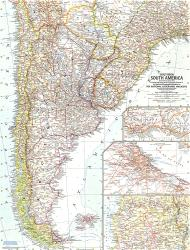 1958 Southern South America Map by National Geographic Maps