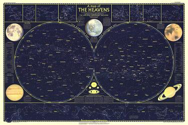 1957 Heavens by National Geographic Maps