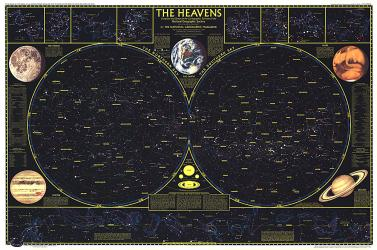 1970 Heavens by National Geographic Maps