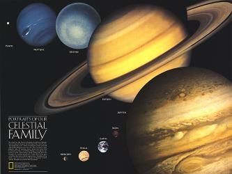 1990 Portraits of Our Celestial Family by National Geographic Maps