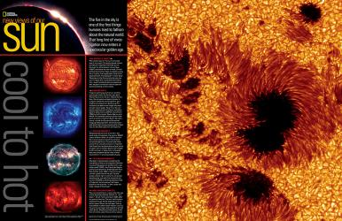 2004 New Views of Our Sun, Cool to Hot by National Geographic Maps