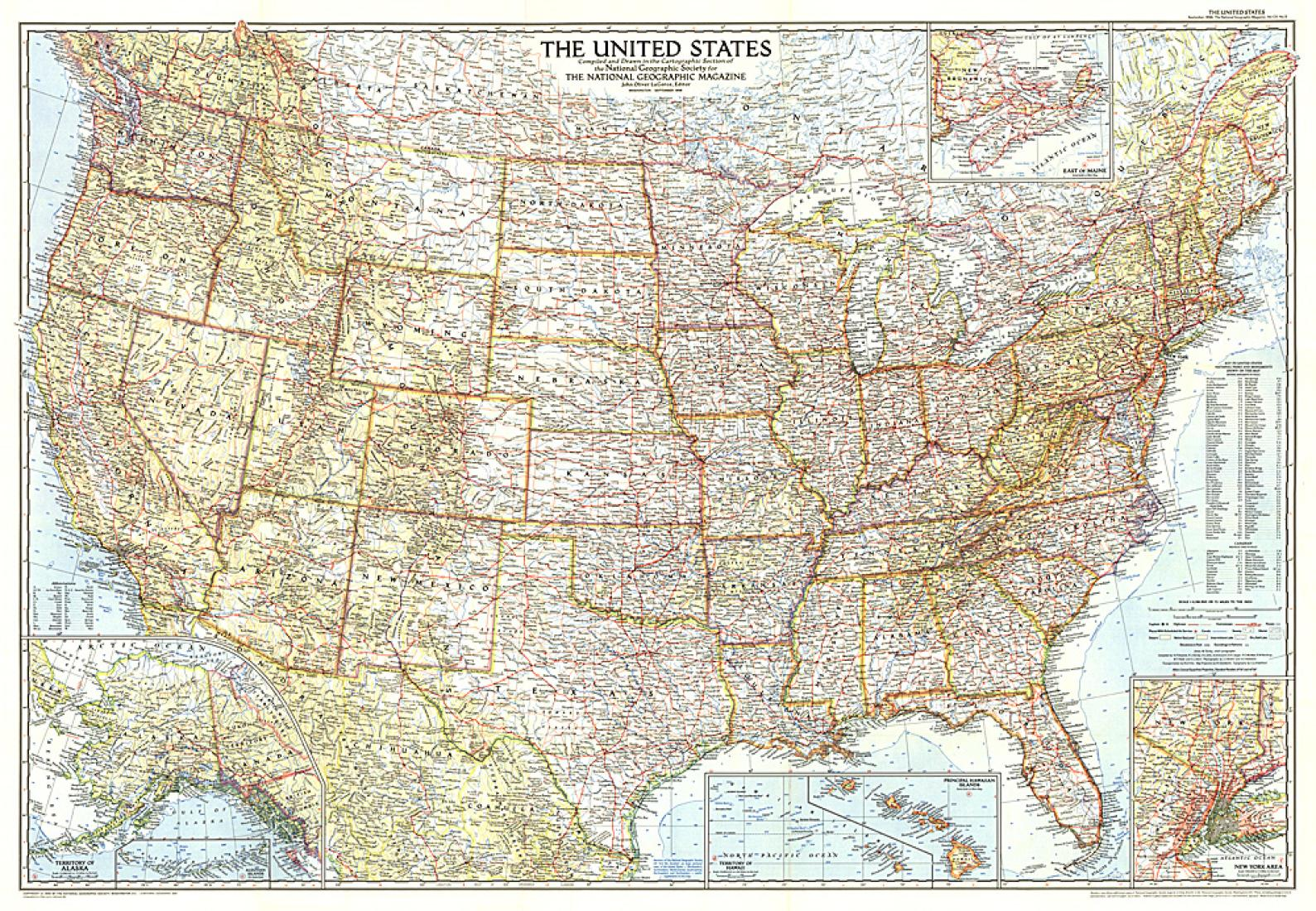 Picture of: 1956 United States Of America Map By National Geographic Maps