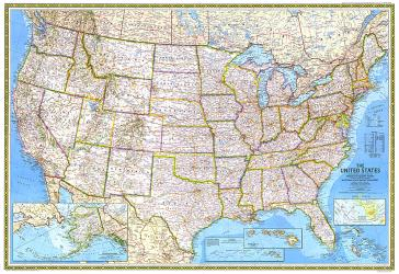 1982 United States by National Geographic Maps