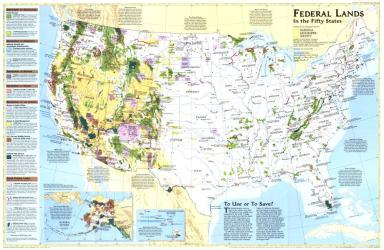 1996 Federal Lands in the Fifty States by National Geographic Maps