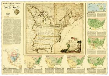 2000 United States, Territorial Growth Map by National Geographic Maps