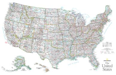2006 The United States by National Geographic Maps
