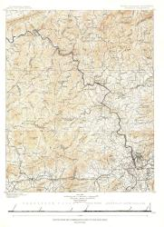 1889 North Carolina Tennessee Cumerberland Blue Ridge by National Geographic Maps