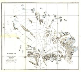 1892 Muir Glacier, Alaska Map by National Geographic Maps