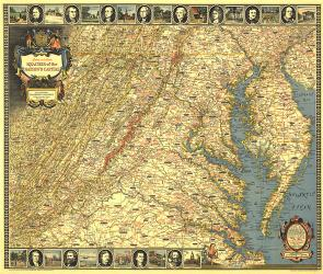 1938 Historic and Scenic Reaches of the Nations Capital Map by National Geographic Maps