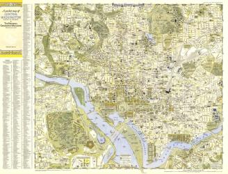 1948 Central Washington, District of Columbia Map by National Geographic Maps