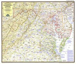 1956 Round About the Nation's Capital by National Geographic Maps