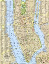 1964 Tourist Manhattan Map by National Geographic Maps