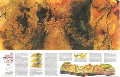 1978 Grand Canyon of Colorado Map by National Geographic Maps