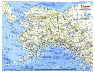 1984 Alaska Map by National Geographic Maps