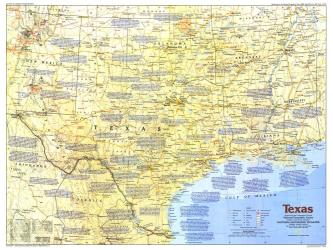 1986 Texas Map by National Geographic Maps