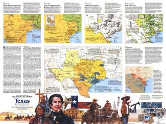 1986 The Making of America, Texas Theme by National Geographic Maps