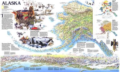 1994 Alaska Theme by National Geographic Maps