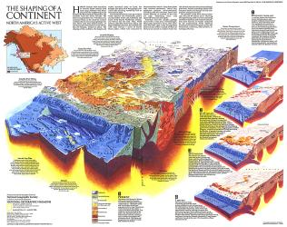 1985 The Shaping of a Continent by National Geographic Maps